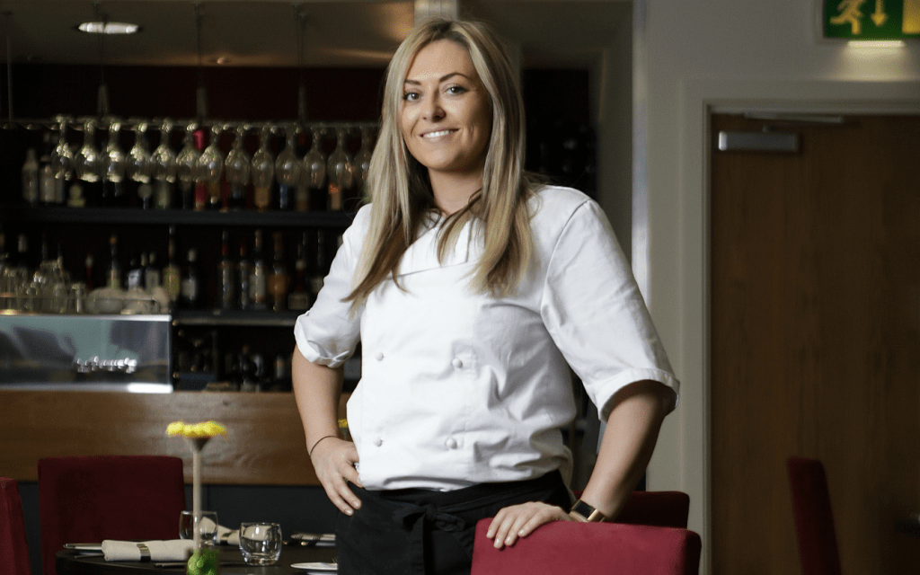 AMY SHARES EXPERTISE WITH BUDDING YOUNG CHEFS